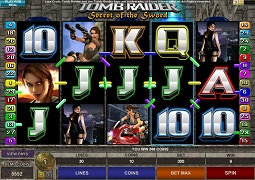 ビデオスロット - TOMB RAIDER Secret of the Sword